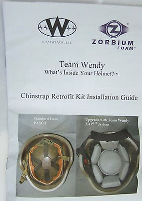 4 POINT CHINSTRAP med large RETROFIT KIT ASSEMBLY WITH screws black NEW