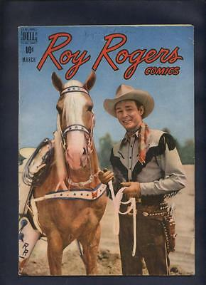 Roy Rogers 15  western  Movie Star photo cover comic Dell Golden age