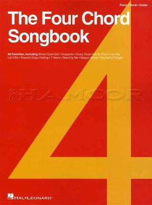 The Four Chord Songbook Piano Vocal Guitar Sheet Music Book Coldplay Bon Jovi