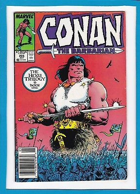 "Conan The Barbarian #206_May 1988_Fine+_""heku Book One: Sands Upon The Earth""!"
