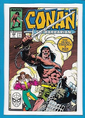 "Conan The Barbarian #208_July 1988_Very Fine/near Mint_""heku Book Three: Triad""!"