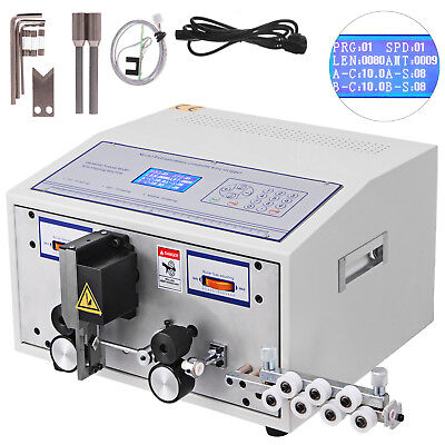 Automatic Computer Wire Stripping Cutting Machine 0.1-2.5mm2 220v LCD GOOD