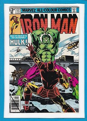 """Invincible Iron Man #131_Feb 1980_Vf+_""""face-To-Face With The Incredible Hulk""""_Uk"""