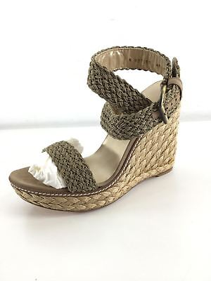 61bdf6829f3 O38 NEW Stuart Weitzman Alex Swamp Crochet Espadrille Wedges Women s Sz 10 M