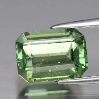 2.87ct 9.6x7mm Octagon Natural Unheated Green Apatite, Brazil