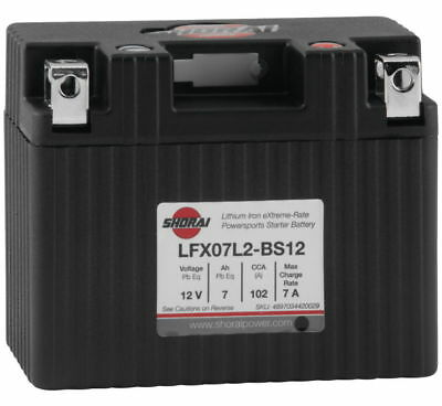 "Lithium Ion MC/ATV Battery - 12V 102CCA Sho. LFX07L2-BS12 4.45"" X 2.28"" X 3.50"""
