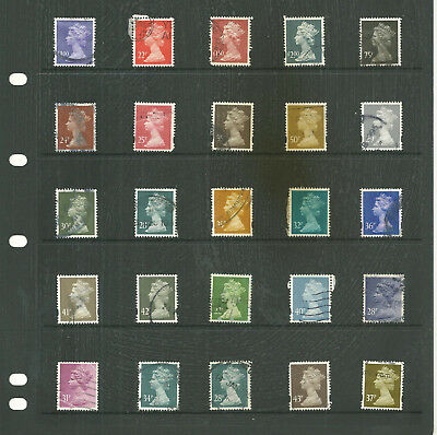 GB  definitive High value  decimal  mix one stock sheet stamps
