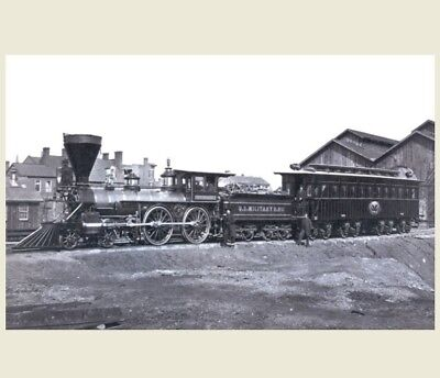 President Abraham Lincoln Funeral Train PHOTO Engine and Car, 1865 Assassination