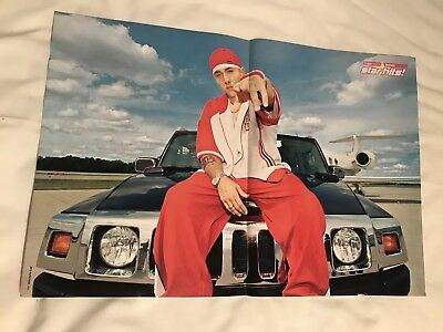 **eminem Rare German Magazine 2 Page Pullout Poster**