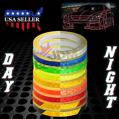 Reflective Tape Safety Self Adhesive Striping Sticker Decal 26FT / Roll 1CM