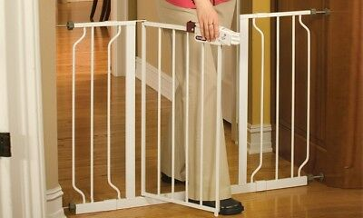 NEW Regalo Extra-Wide Walk-Through Baby Safety Gate - White