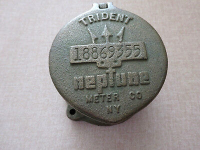 Vintage Trident Neptune Meter Co. New York Bronze Or Brass Meter Cover