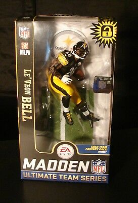 """McFarlane Madden 19 S2 NFL Leveon Bell Steelers 7"""" Action Figure FANTASY PACK"""