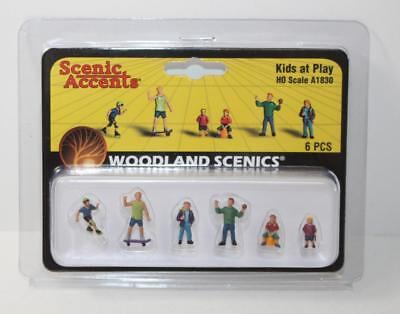 HO 1:87 Scale Woodland Scenics People Kids at Play A1830 New FNQHobbys