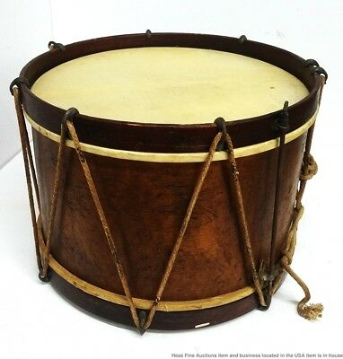 Signed Lyon Healy Antique Military Parade Snare Drum Chicago