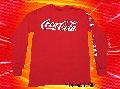 New Coca Cola Red Coke Soda Long Sleeve Classic Mens T-shirt