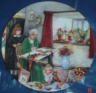 Royal Doulton Collectors Plate THE EMBROIDERESS - OLD COUNTRY CRAFTS