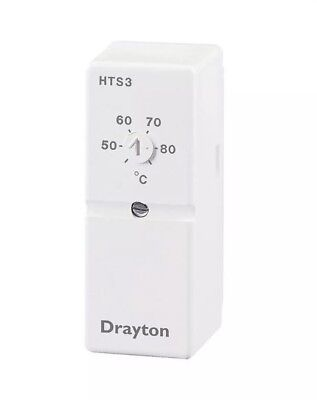 * New and Unused Drayton HTS3 Cylinder Thermostat and Retaining Strap