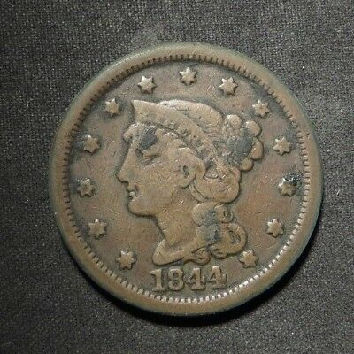 1844 Large Cent 1¢- VG