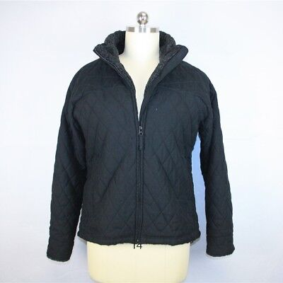 Columbia Womens Black Quilted Padded Insulated Collar Full Zip Jacket Coat SZ XL