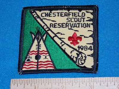 1984 - Scout Bsa Chesterfield Reservation Patch Mint