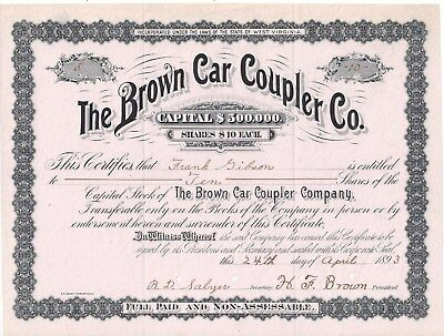 Stk-The Brown Car Coupler Co. 1893 See images 4-5