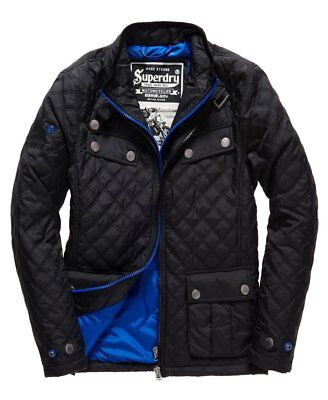 Superdry Men's Full Zip Black Quilted Apex Jacket