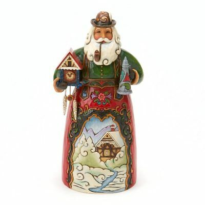 Jim Shore German Santa Christmas Figurine Frohe Weihnachten 4017646 Heartwood