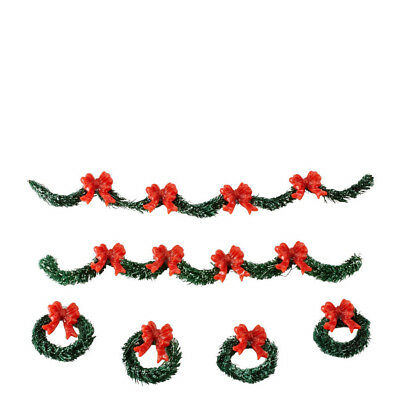 Department 56 Snow Village City Holiday Boughs Christmas Accessories Set of 6