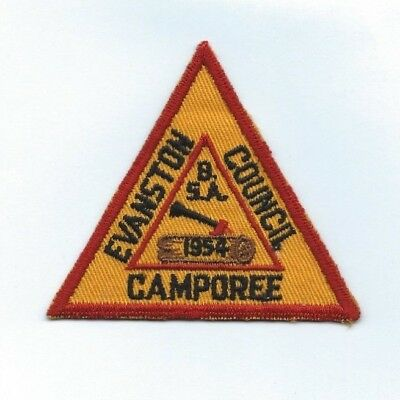 BSA Boy Scouts of America Camp Evanston Council 1954 Camporee Pocket Patch