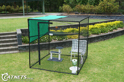 1.8m Freestanding Cat Enclosure | Stainless Steel Reinforced + FREE Accessories