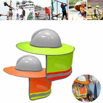 Construction Safety Hard Hat Neck Shield Helmet Sun Shade Reflective Stripe pPFi