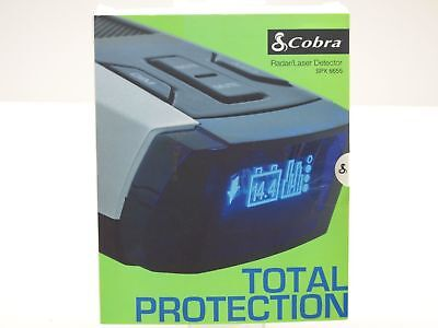 Cobra Radar Lazer Detector SPX6655 w/ Blue OLED Display High-Performance