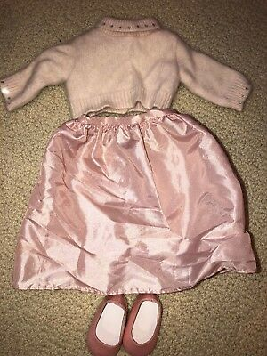 *American Girl* Today Doll Petal Pink Skirt/Sweater/Shoes Outift-Retired 2001
