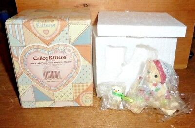 ENESCO Calico Kittens: One Look From You Melts My Heart