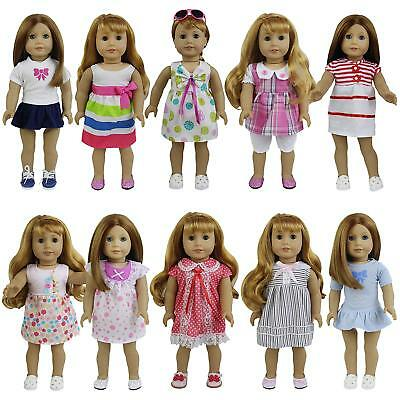 """8pcs Fashion Clothes Dress for 14""""-16"""" &18"""" Dolls Girl Baby Doll Outfits Gifts"""
