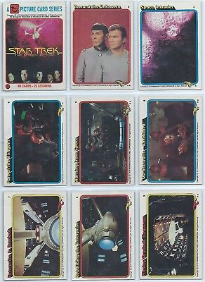 1979 Topps Star Trek the Motion Picture Complete Base Set 1-88