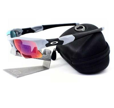 b4d8ba11140 Oakley 26-263 FLAK JACKET XLJ 30 YEARS SPORT Fog +Red Iridium Mens  Sunglasses