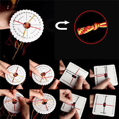 2 Pcs/set Round Square Kumihimo Beading Cord Disc / Disk Braiding Plate