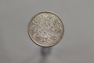 India 1 Rupee 1879 Dot Silver Lovely Details A99 #z9000