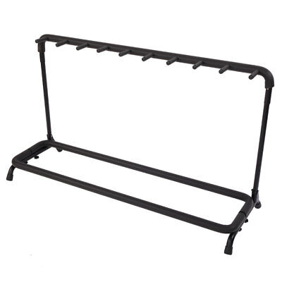Guitar Stand 9-Slot Guitar Folding Stand Rack Band Stage Bass Acoustic Guitar