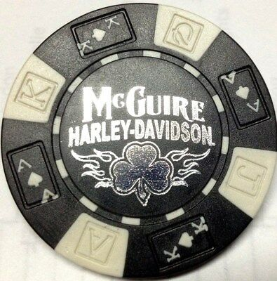 Harley Poker Chip     MCGUIRE HD      WALNUT CREEK,  CA          BLACK & WHITE