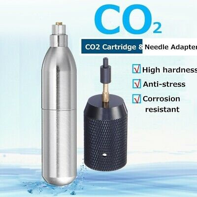 Airsoft Refillable 12g Unthreaded Recharge CO2 Cartridge Gas Cylinder/Adapter