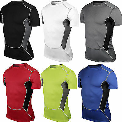 Men's T Shirt Compression Base Layer Top Short Sleeve Thermal Top Jersey Cycling