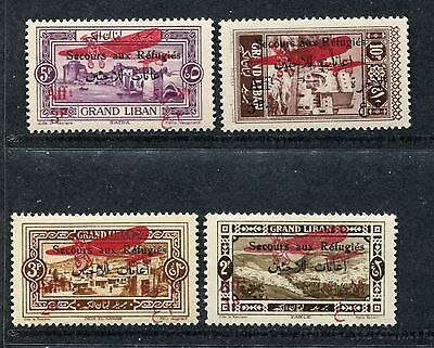 Lebanon CB1-CB4 MNH. Air Post 1926. Airplane The relief of refugees from x23679