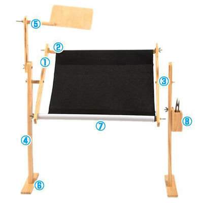 Solid Wood Cross Stitch Rack Adjustable Wooden Stand Desktop Embroidery Frame