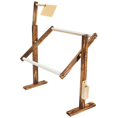 Solid Wood Cross Stitch Rack Adjustable Stand Desktop  Embroidery Frame