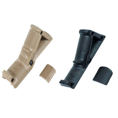 2pcs 4.75 Angled Foregrip Hand Guard Front Grip Fit 20mm Picatinny / Weaver Rail