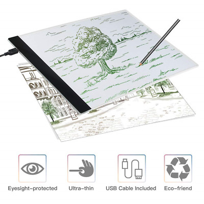 Light Box Drawing, A4 LED Copy Board Drawing Pad with USB cable, Art Craft...