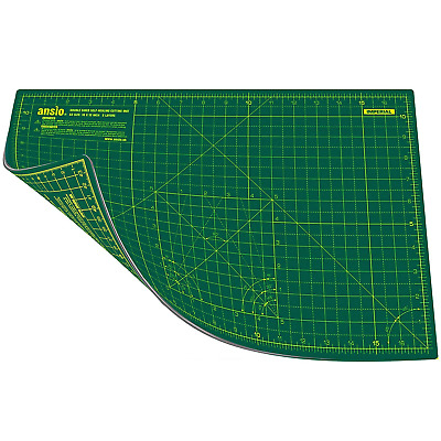 ANSIO A3 Double Sided Self Healing 5 Layers Cutting Mat Imperial/Metric 17...